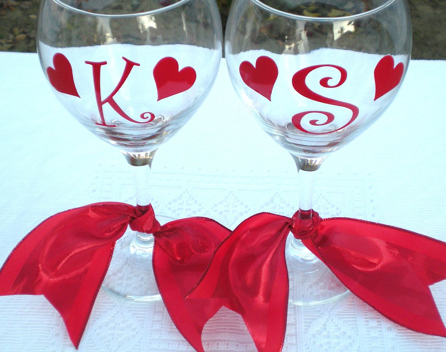 Cute Gift Idea Bride And Groom Bridesmaids Over The Hill Valentines Diy Wine Glasses Valentine Day Gifts