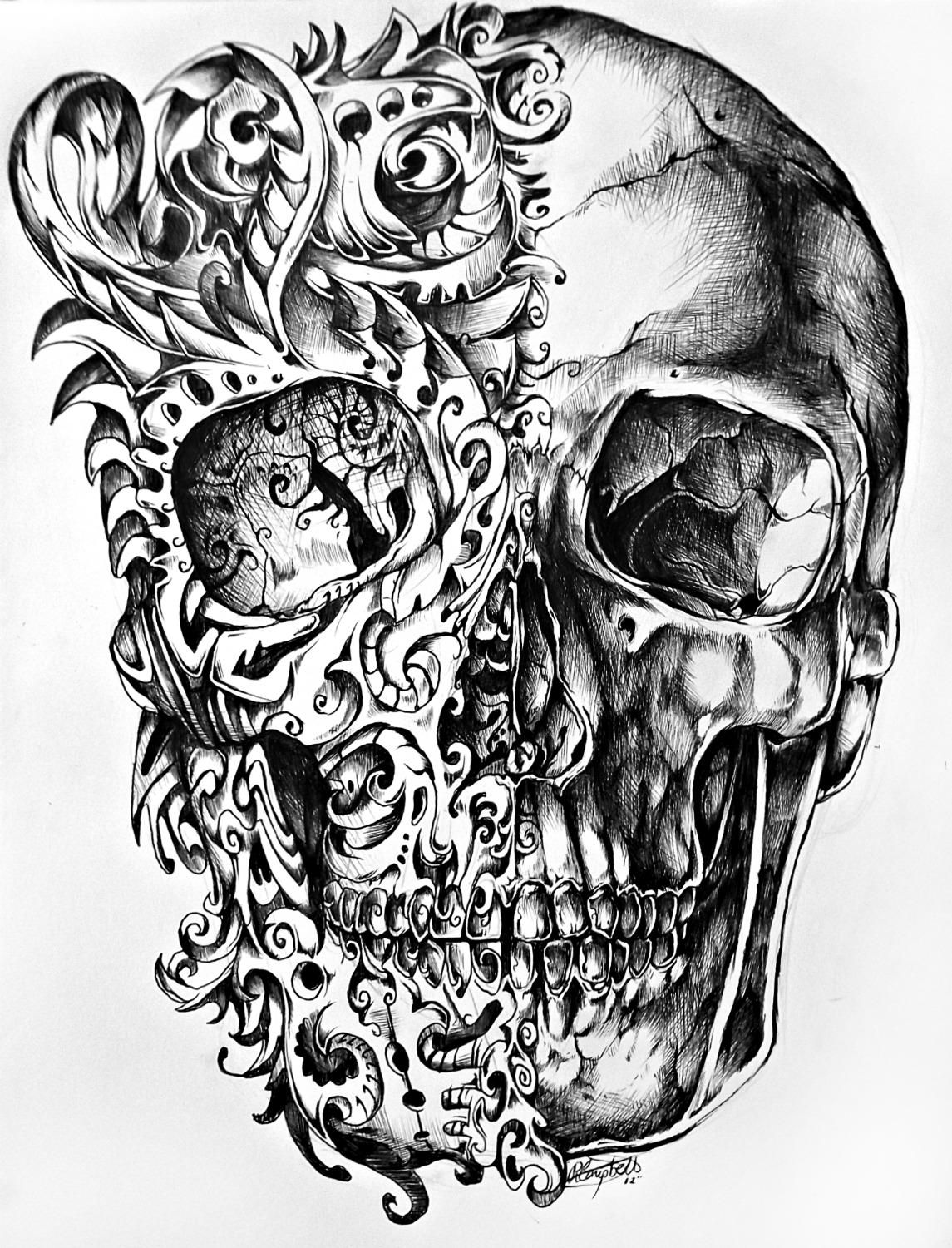 If all was well & your heart could find the words. Skull