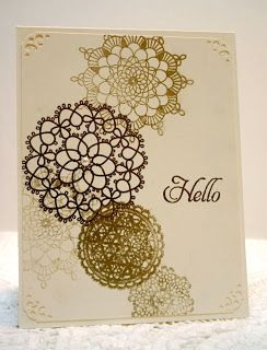 Stampin' Up Delicate Doilies gold embossed