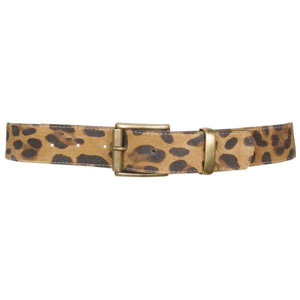 Leatherock Leopard Print Leather Belt - Tan ($36) ❤ liked on Polyvore featuring accessories, belts, cintos, animal print, tan, leatherock belt, animal print belt, leatherock, tan belt and loop belt