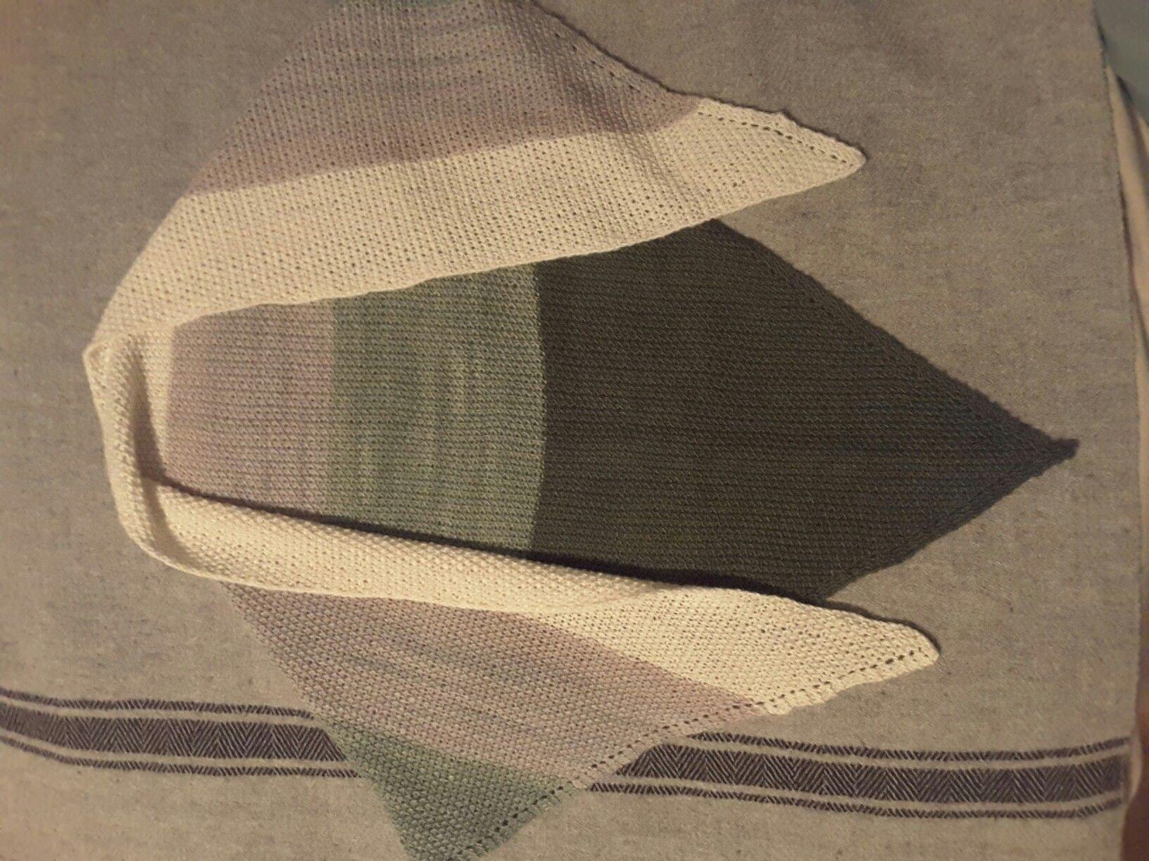 Triangle scarf, Manos del Uruguay silk blend