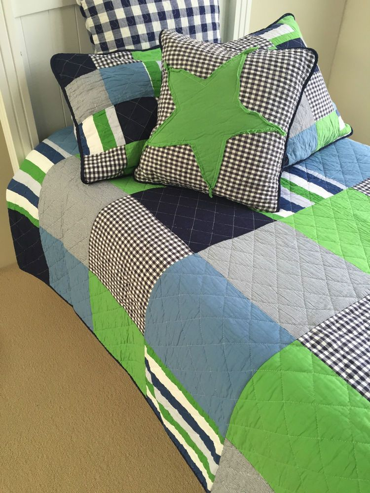 Linens n Things Henry Patch Boys Single Bed Quilted Bedspread ... : single quilted bedspreads - Adamdwight.com