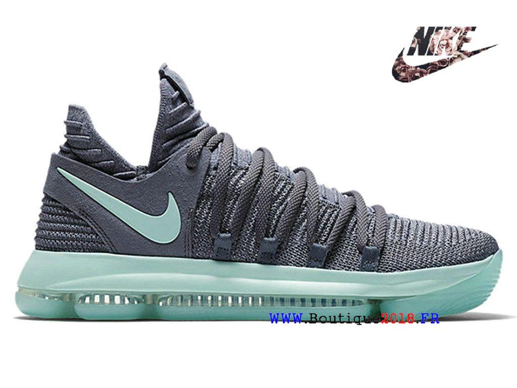 83344bca8b89 Officiel 2019 Nike Zoom KD 10 Chaussure de basketball Pas cher Hommes Gray  green 897816-