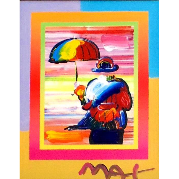 Umbrella Man on Blends, Mixed Media by Peter Max at