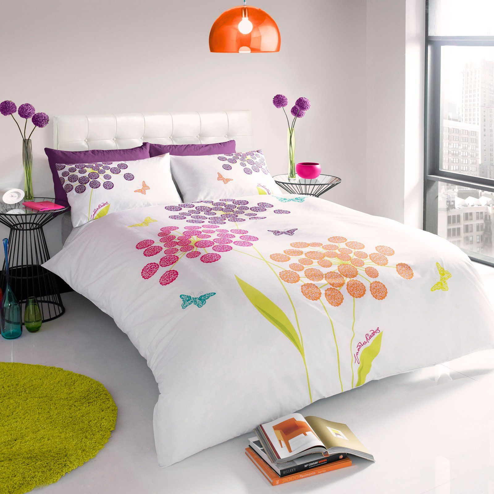 Zandra Rhodes Bedding Fl Erfly Multi Coloured King Size Duvet Cover Multicoloured