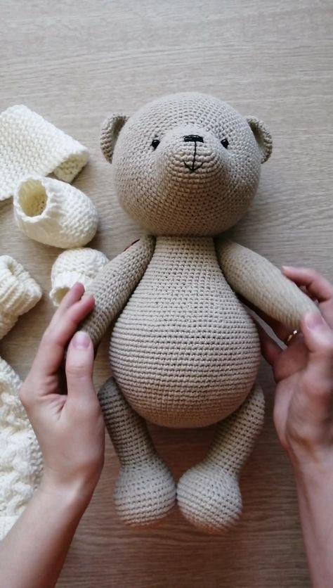 amigurumi max teddy bear crochet PDF pattern tutorial crochet ...   836x474