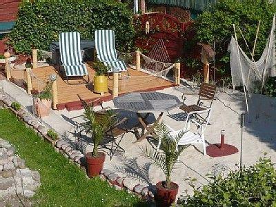 Ob Das Wohl Ein Traum Bleibt Ein Strand Im Eigenen Garten Gartengestaltung Hinterhof Neu Gestalten Hintergarten