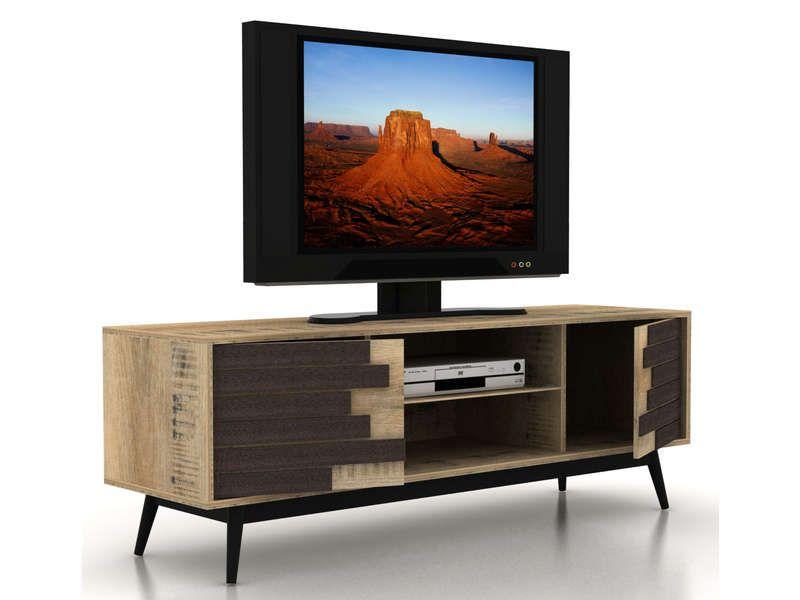 meuble tv 2 portes battantes 565208