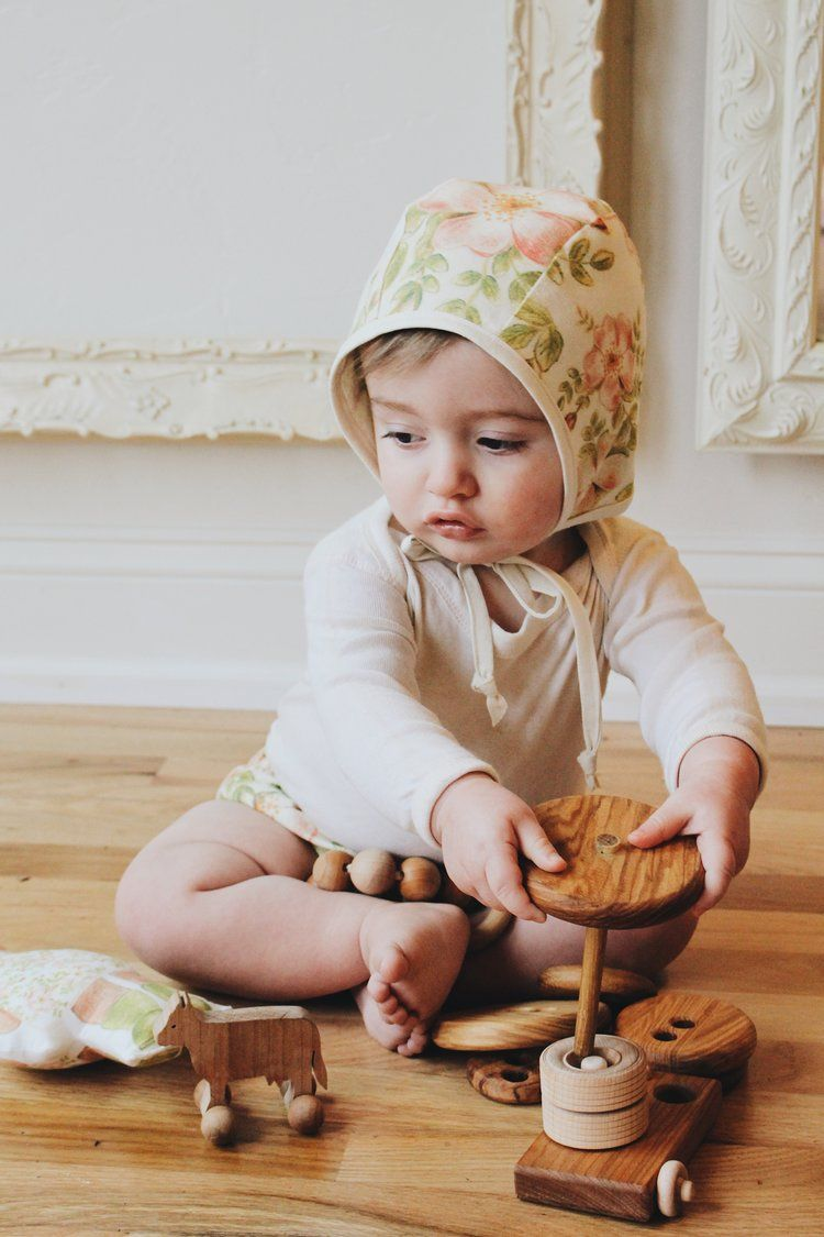 Wild Rose Linen Bonnet by Under A Tin Roof