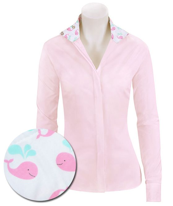 RJ Classics Prestige Shirt - Pink with Whales, Sizes 2 - 10