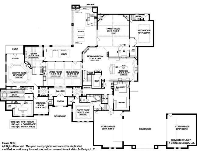 Luxury modern mansion floor plans for Modern luxury floor plans
