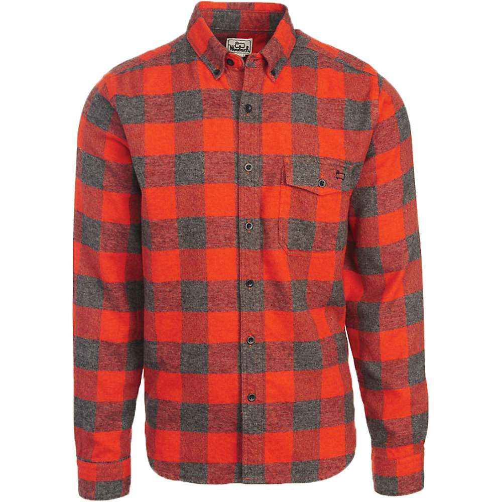 Flannel jacket with wool lining  Woolrich Menus Twisted Rich Flannel Shirt  Large  Old Red