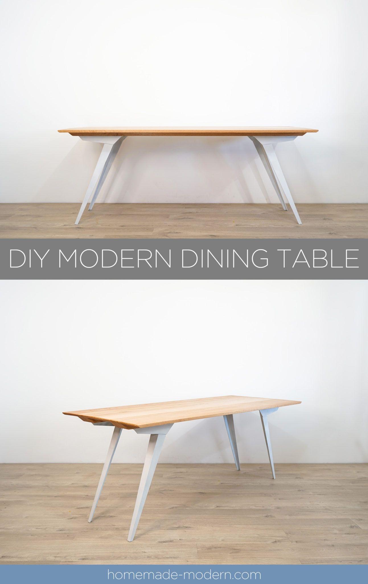 Homemade Modern Ep126 Diy Modern Dining Table Meja Makan Modern