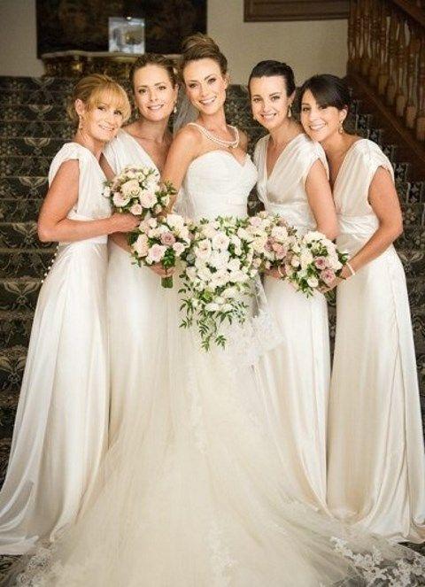 40 Stylish White Bridesmaids\' Dresses | HappyWedd.com | White ...