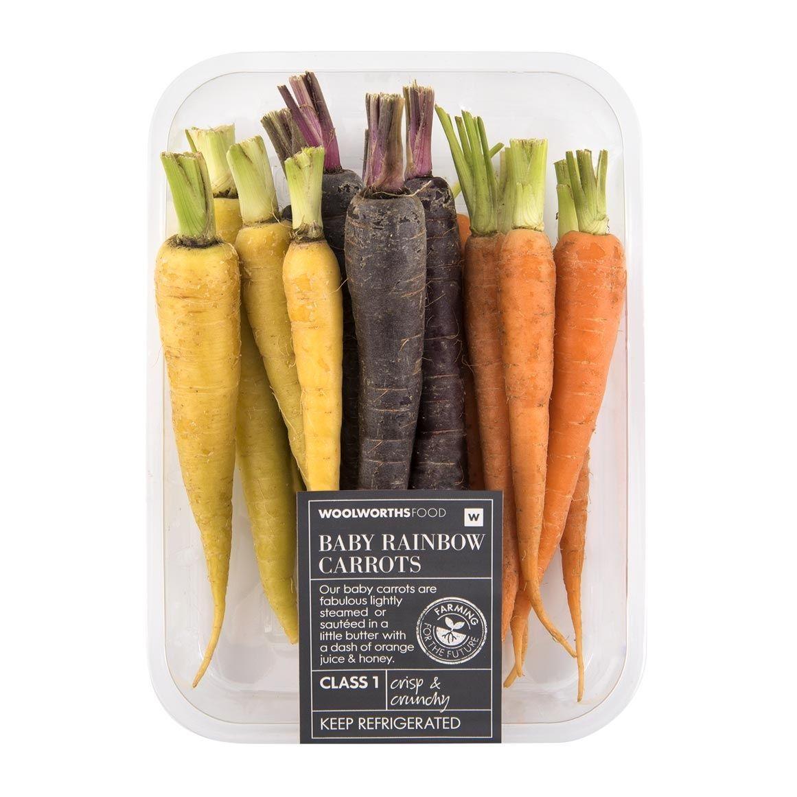 Baby Rainbow Carrots Min 200g Woolworths Co Za Carrots Rainbow Carrots Seasoning Recipes