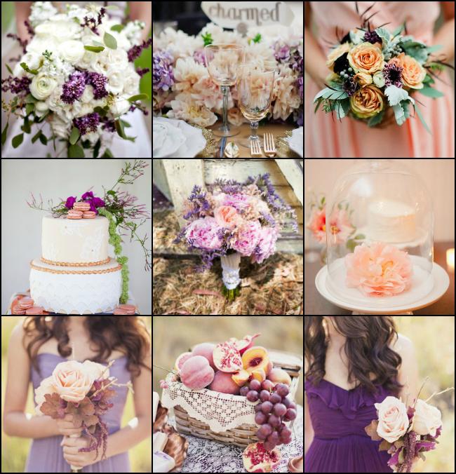 Peach And Purple C Wedding Inspiration