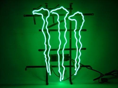 Monster Energy Mini Kühlschrank : Monster drink neon sign monster mini fridge