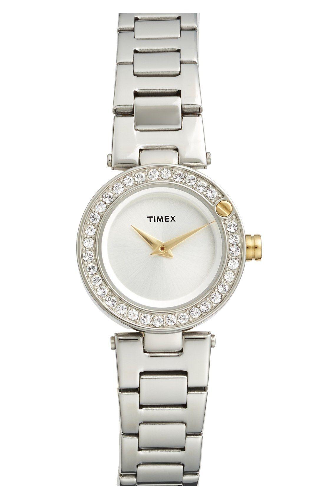 Womenus timex ustarlightu crystal bezel bracelet watch mm
