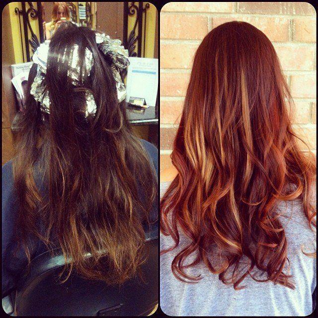 auburn hair black peekaboo - Google Search | Hair | Pinterest ...