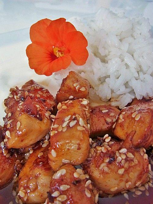 Tandoori Chicken mit Honig und Sesam #tandoorichicken