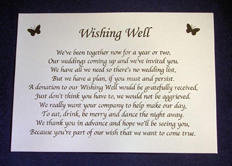 sample wedding invitation monetary request - Google Search - sample gift card