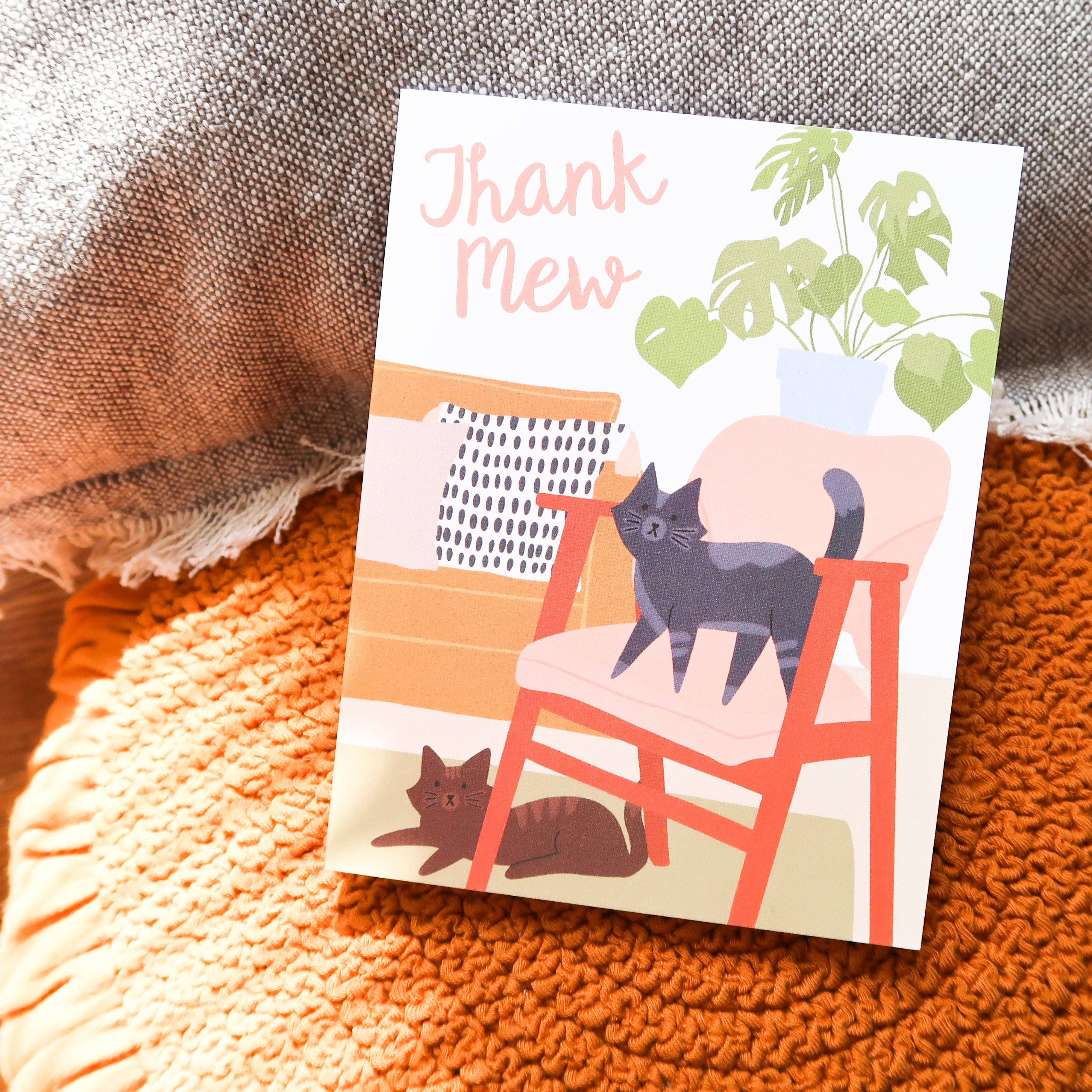 thank mew  greeting card  cards greeting cards card sizes