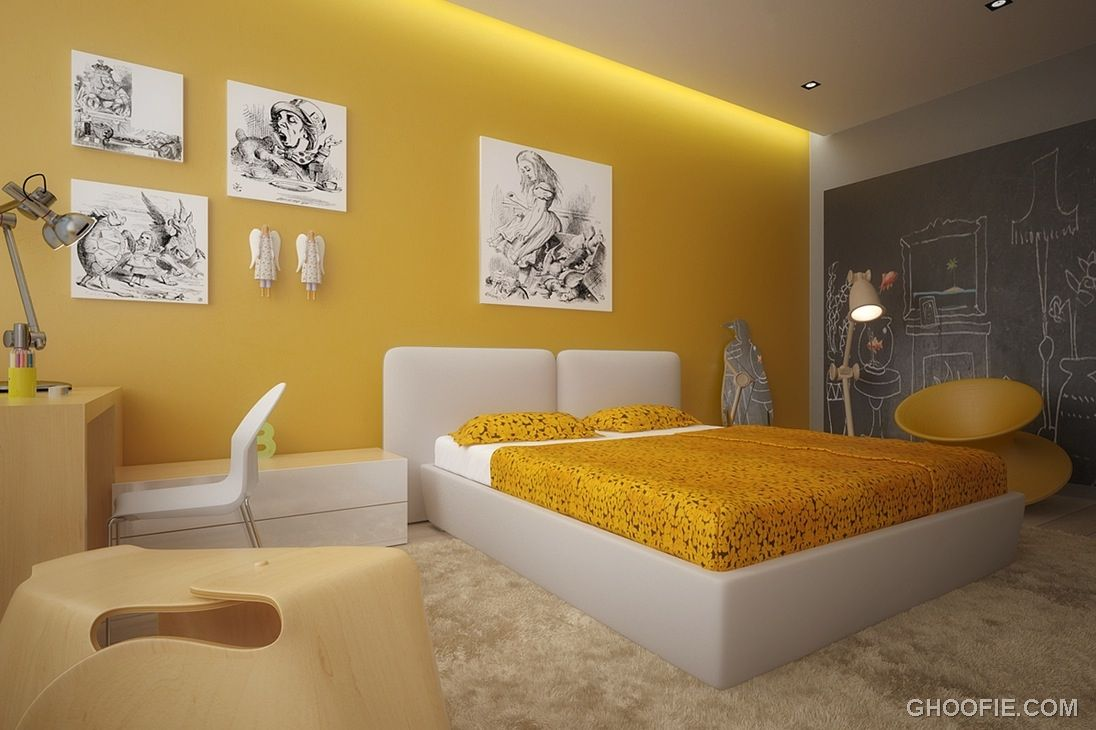 http://www.ghoofie.com/images/2012/10/Yellow-White-Kids-Room-with ...