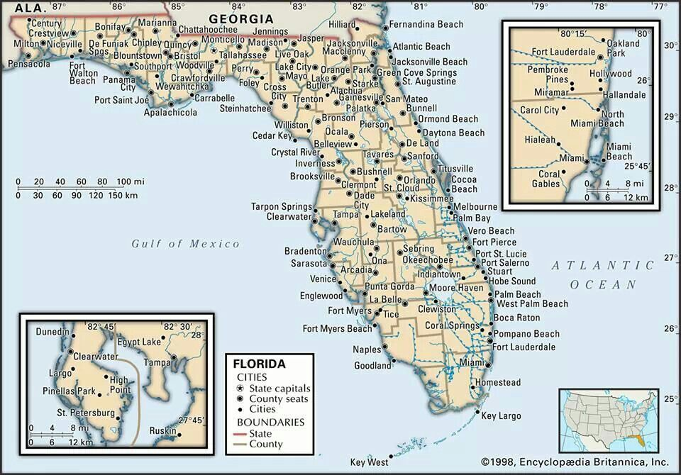Pin By Alana Anderson On Florida Map Of Florida Florida State