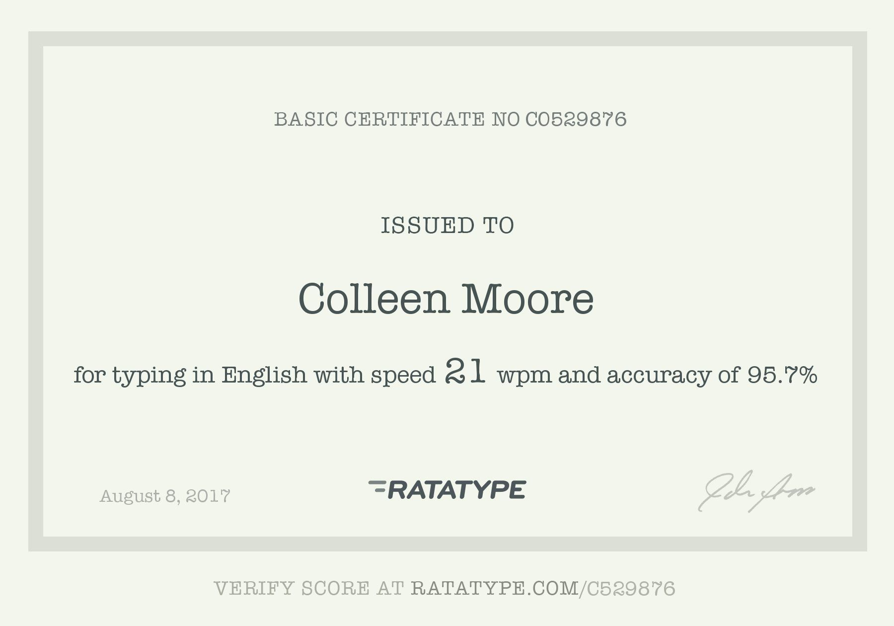 Yay Ratatype Certificates Pinterest Certificate And Test Test