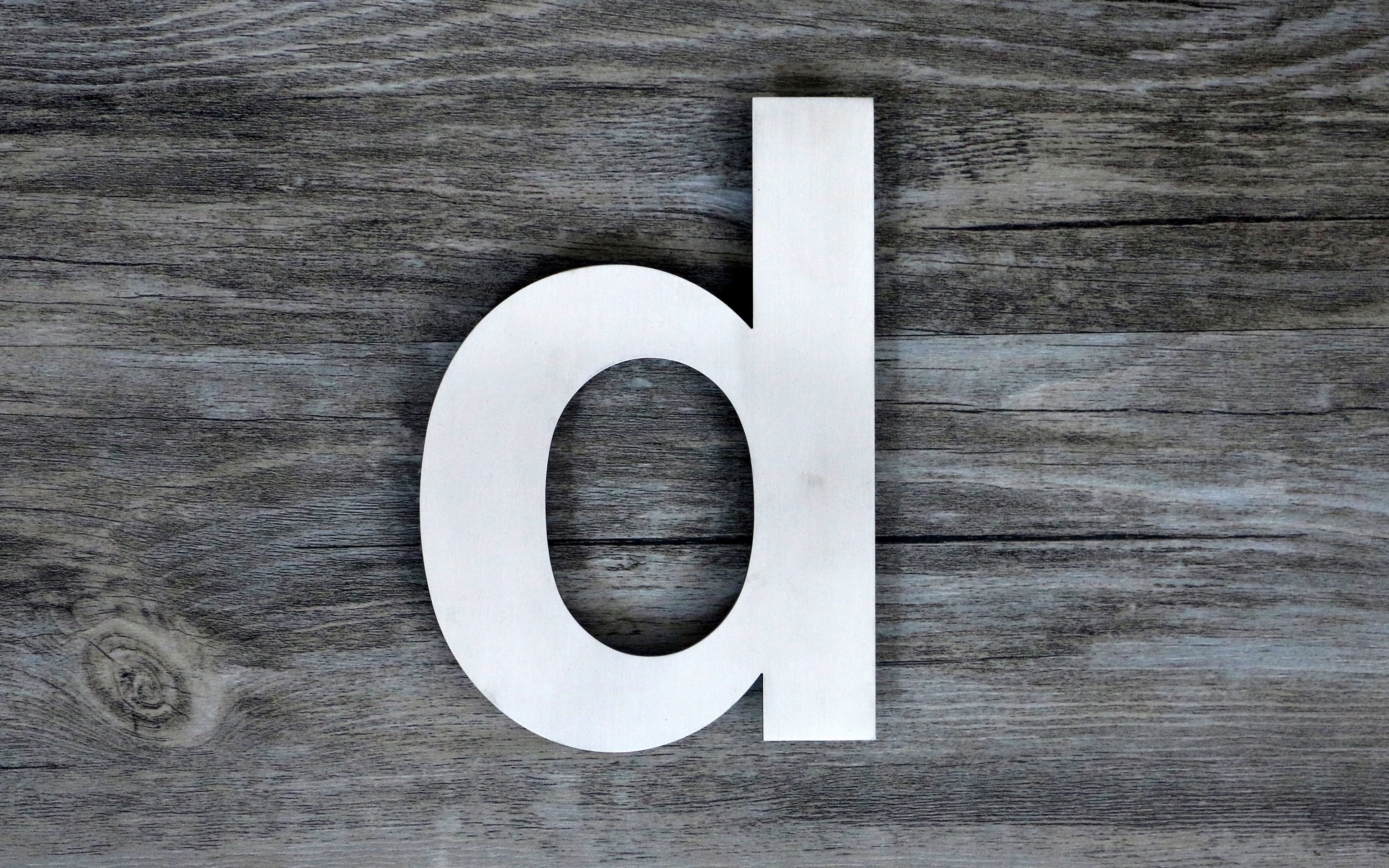 Modern floating steel house letter super large 12 inch letter d brushed solid 304 stainless steel floating appearance easy to install