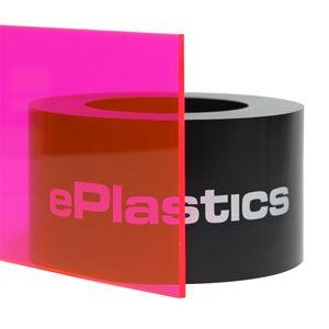 250 X 48 X 96 9095 Fluorescent Pink Plexiglass Acrylic Sheet Paper Masked At Eplastics Plexiglass Plexiglass Sheets Acrylic Sheets
