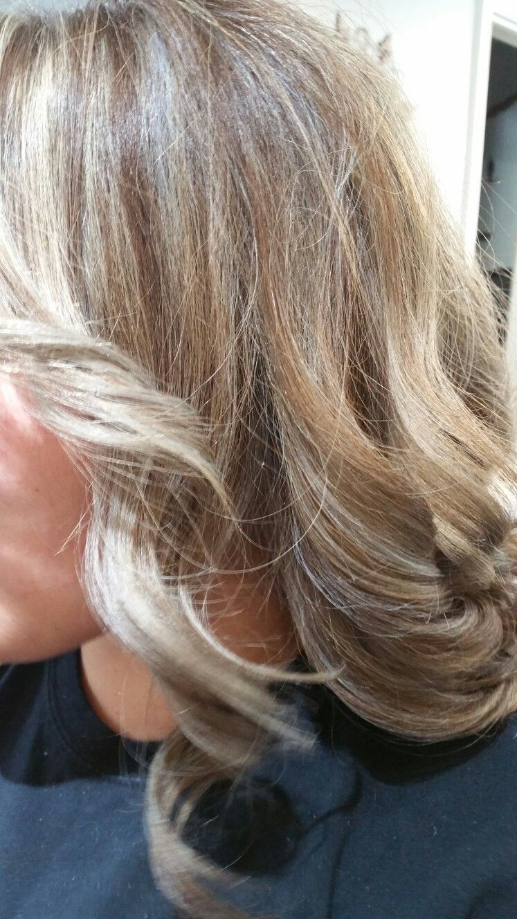 Silver and blonde high lights