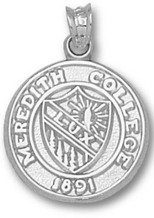 925 Sterling Silver Rhodium-plated Laser-cut Meredith College XL Pendant