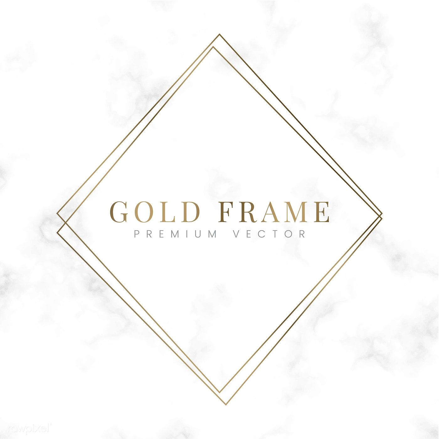b67ac702ae53 Golden square frame template vector