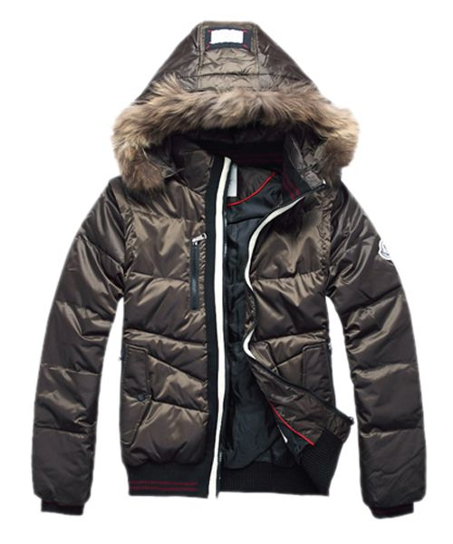 dee7f39f5c19 Moncler Down Jackets Men Rabbit Fur Cap Style Army Green  2781738 ...