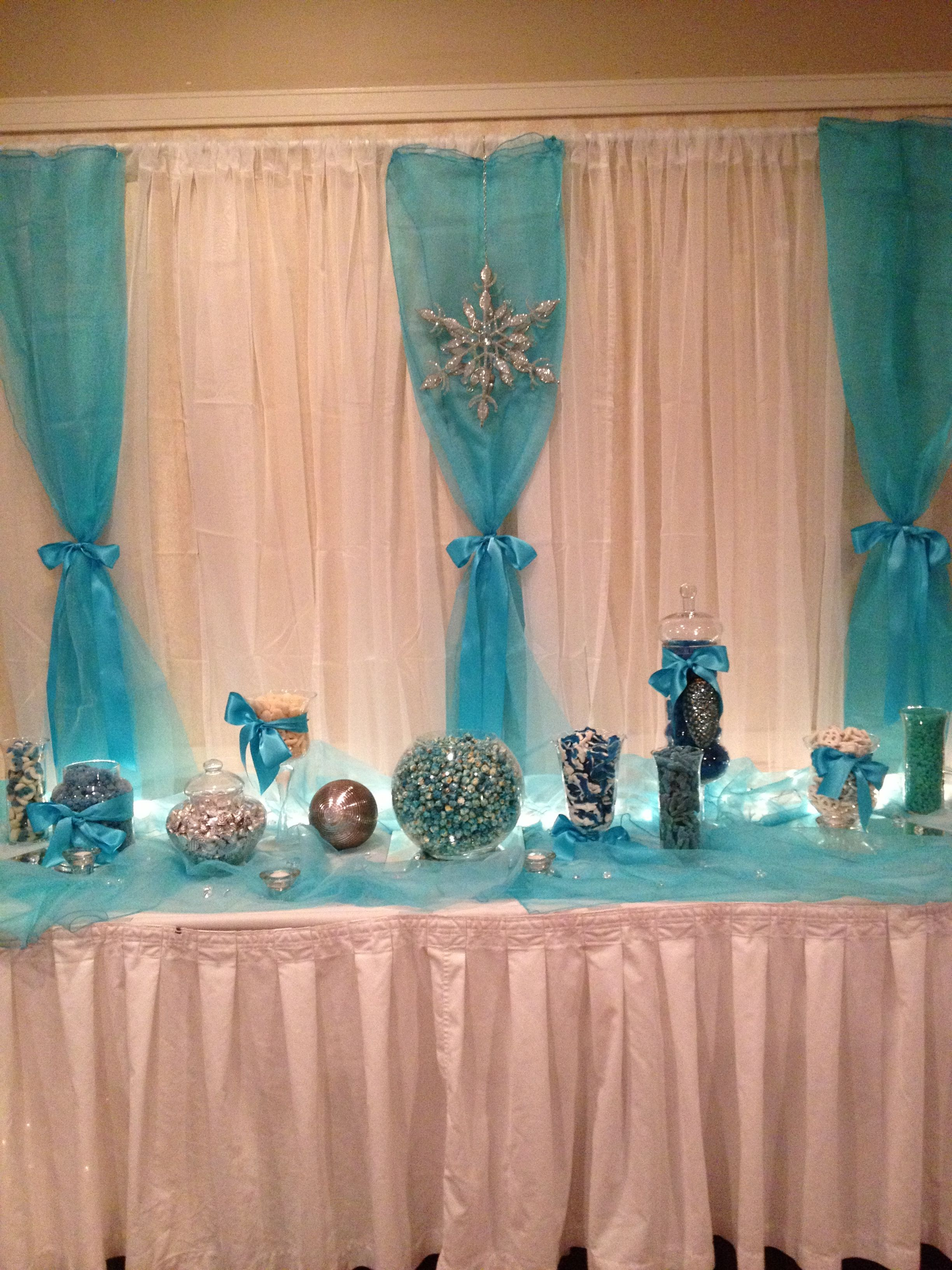 Winter gala candy table