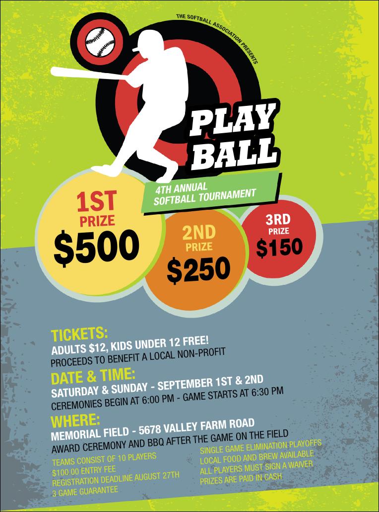 softball tournament flyer template