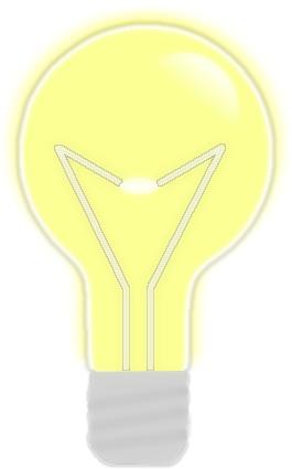 Yellow Glowing Light Bulb Bulb Light Bulb Light Bulbs