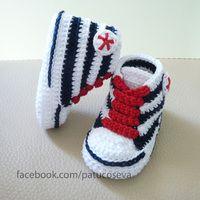Miniconverse marinera | CROCHET | Zapatos de ganchillo