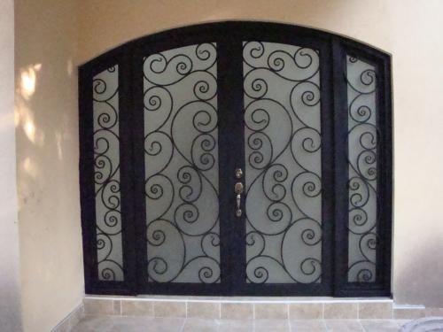 119 Puerta Con Arco Superior