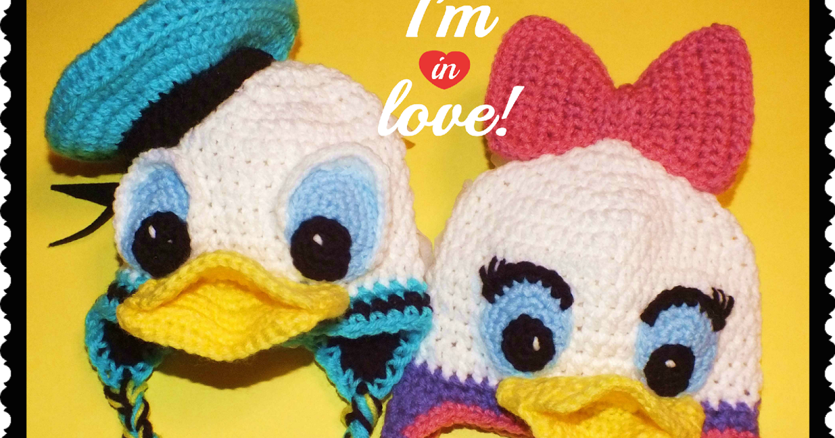 Free Donald Daisy Duck Inspired Hats Pattern Crochet Animal