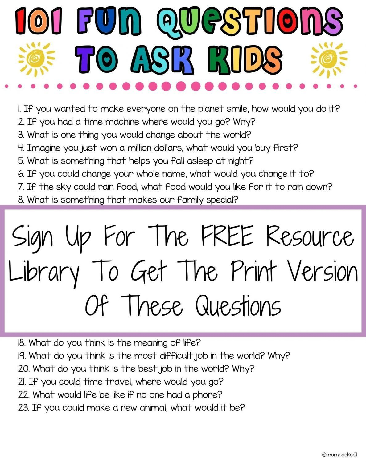 101 Fun Questions To Ask Kids To Know Them Better
