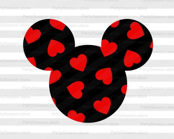 Download Valentine's day shirt decor Mickey head and Hearts clipart ...
