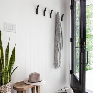 Leaning Edge Matte Black Wall Hook Reviews In 2020 Black Walls Modern Wall Hooks Wall Hooks