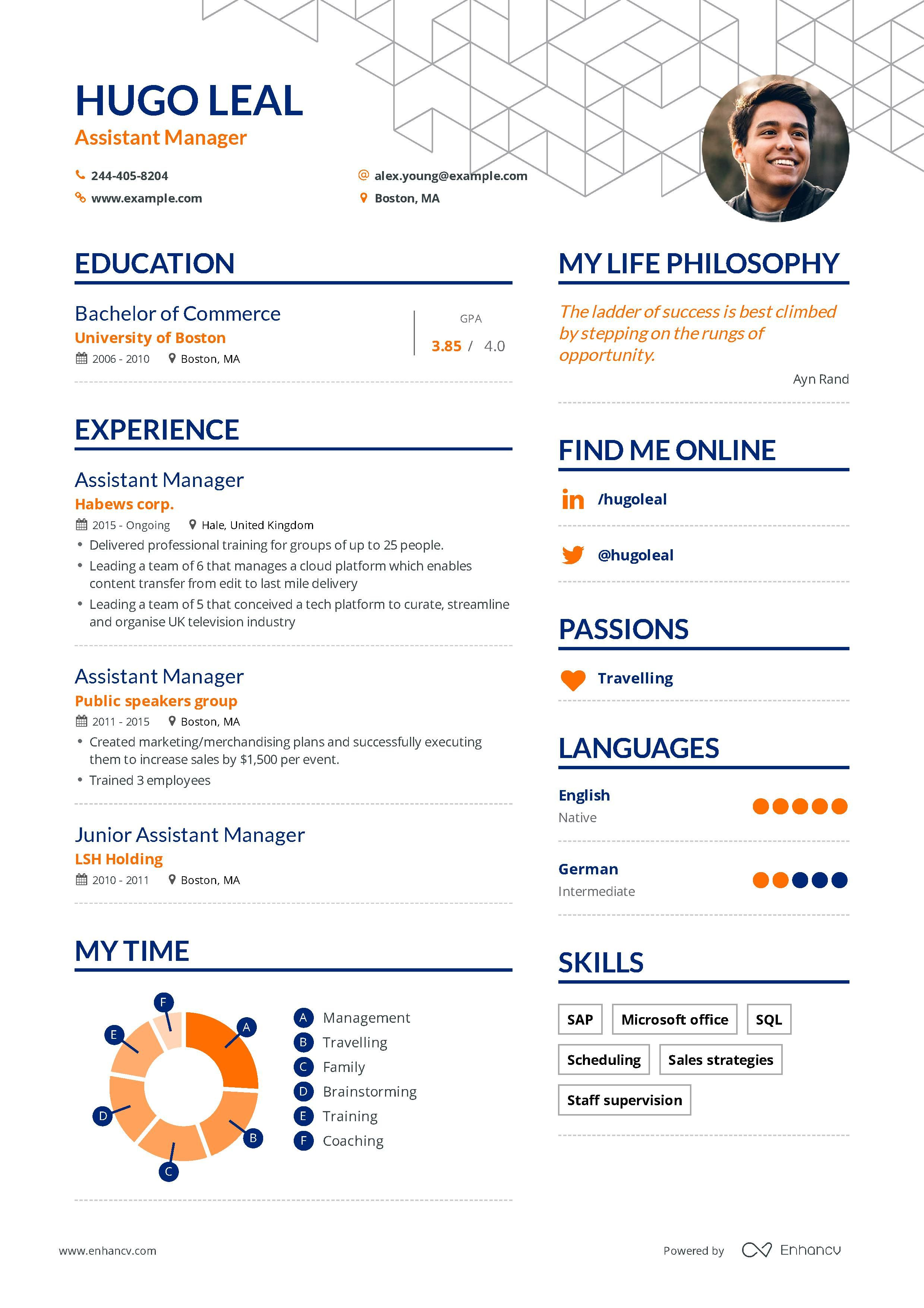 Assistant manager resume examples and skills you need to