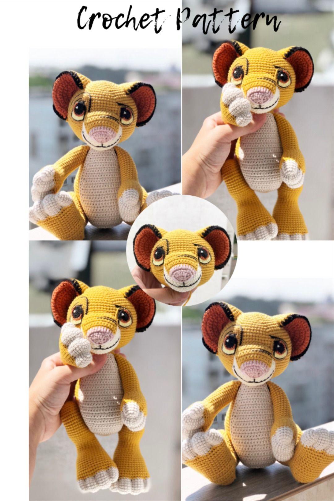 Crochet PATTERN Lion Simba in English amigurumi baby lion ...
