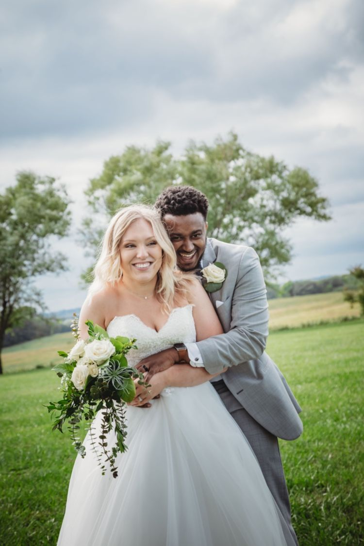 Bride and groom at The Journey Home wedding venue near ...