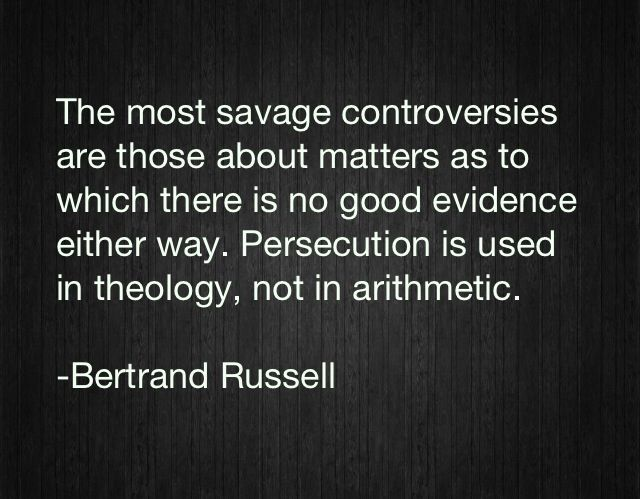 Persecution is used in theology, not arithmetic.