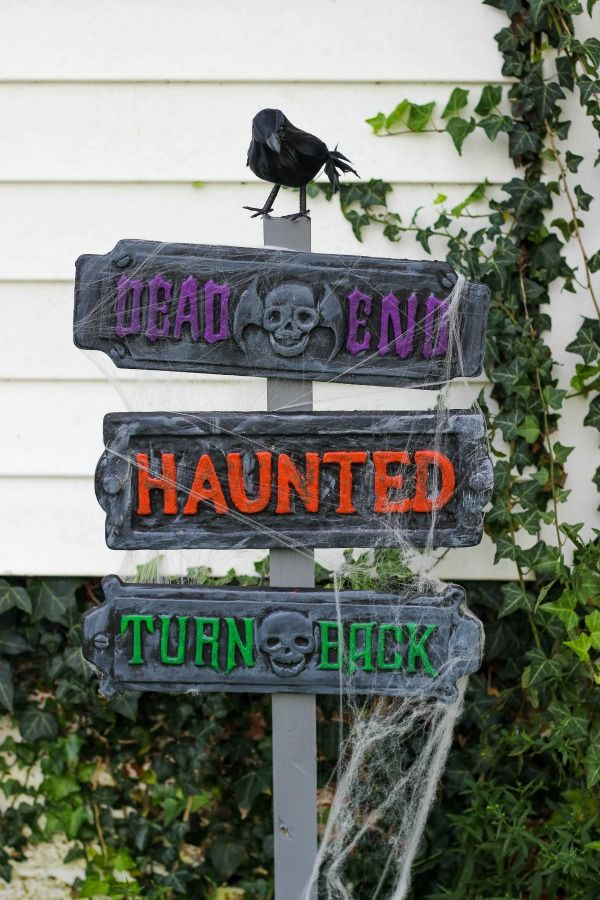 Halloween Decorations Signs Haunted Halloween Signs  Halloween Signs Haunted Halloween And