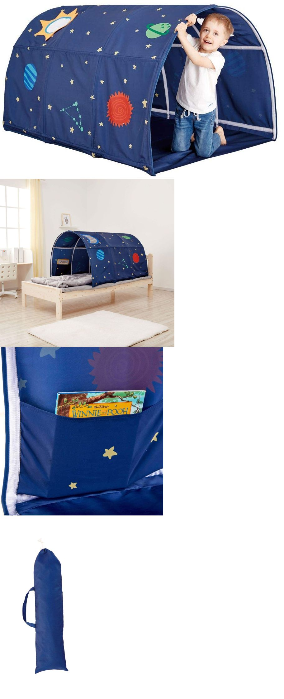 Play Tents 145997 Kids Bed Tent Hideout Tunnel Fort Toddler Privacy Play Hut Pet Toy Twin Bedding -u003e BUY IT NOW ONLY $24.95 on #eBay #tents #hideout ...  sc 1 st  Pinterest & Play Tents 145997: Kids Bed Tent Hideout Tunnel Fort Toddler Privacy ...
